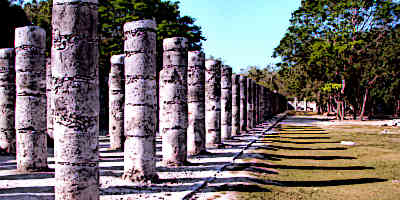 Chichen Itza 1000 Warriors Columns