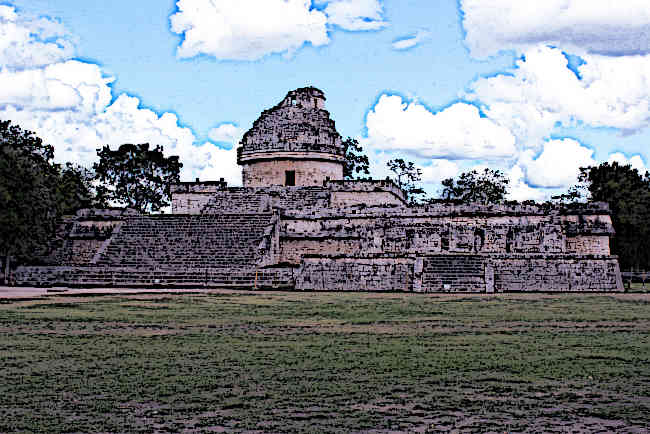 The El Caracol Observatory Temple.