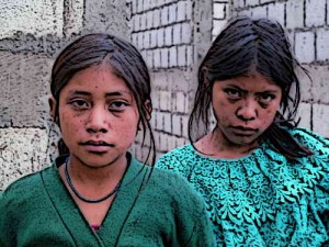 Modern Mayan people - Young Girls